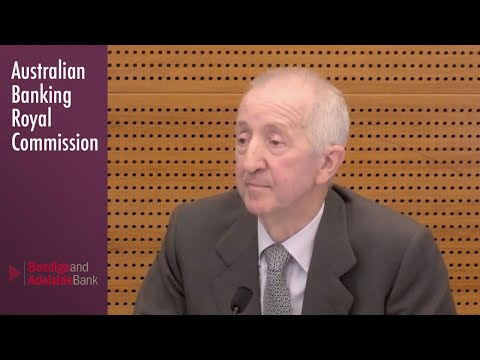 The Chairman Of Bendigo & Adelaide Bank Testifies At The Banking Royal Commission