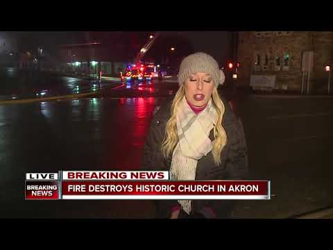 Fire destroys historic church in Akron