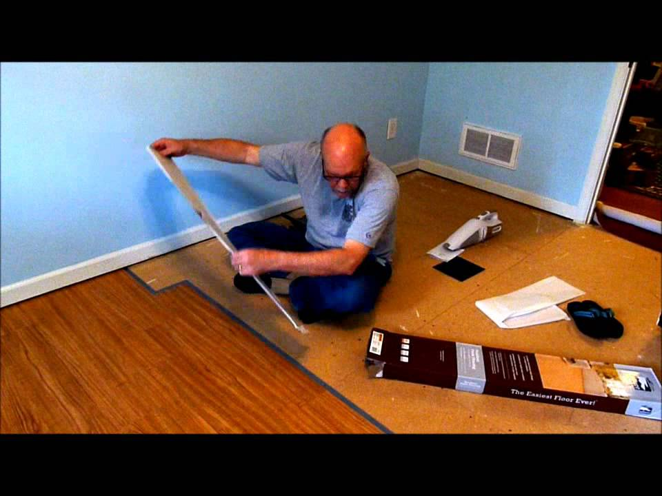 Installing Allure TrafficMaster Resilient Vinyl Flooring YouTube - Vinyl flooring youtube
