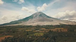 Gunung Sinabung  - Sinabung Volcano by Drone Mavic Pro with The Thing