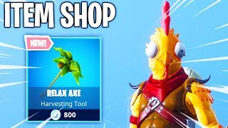 CHICKEN SKIN IS BACK & NEW AXE! Fortnite ITEM SHOP! Daily And Featured Items!