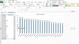 EAF#75 Using Excel to Create a Basic Athlete Load Monitoring Tool