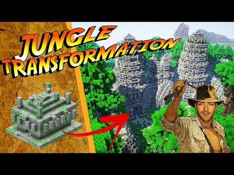Minecraft Jungle Temple Transformation! | EPIC streaming vf