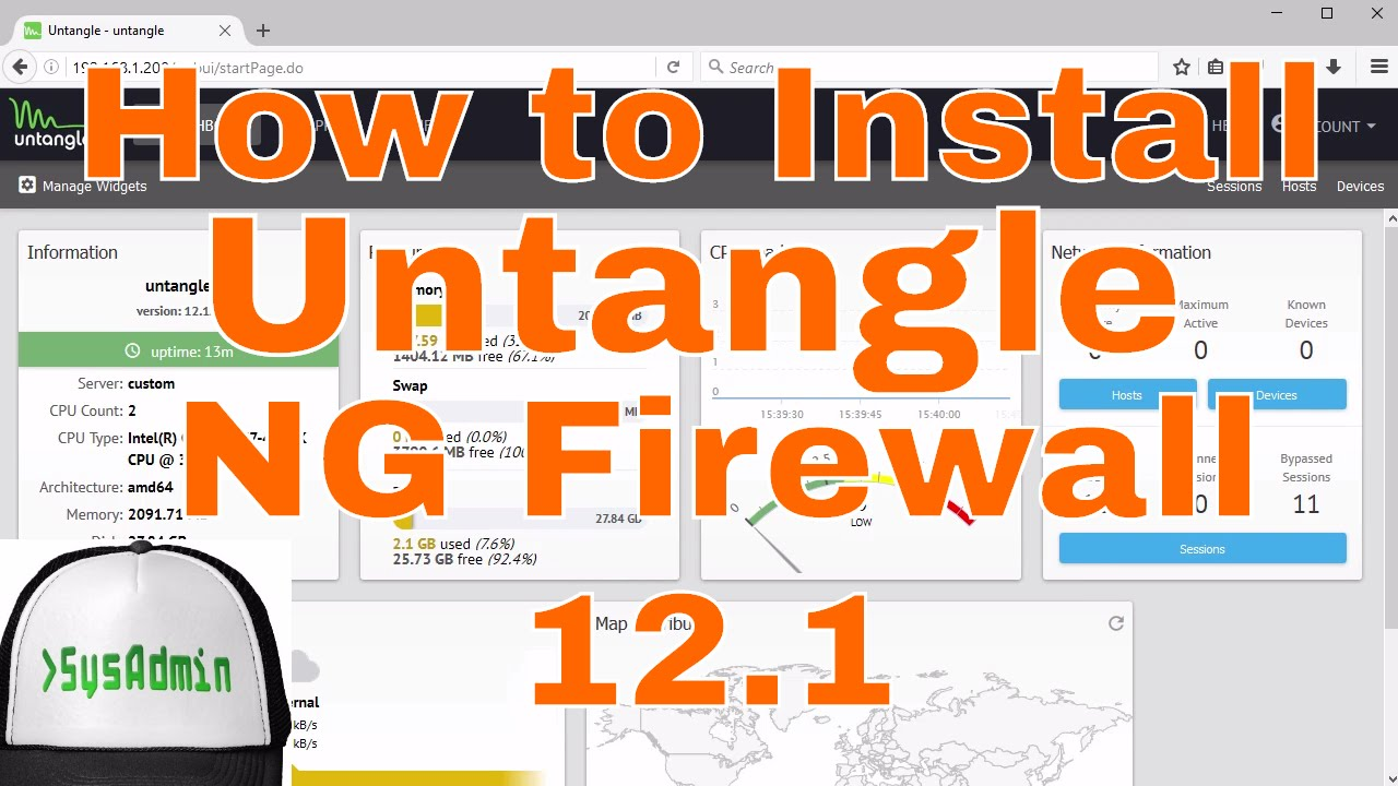 How to Install and Configure Untangle NG Firewall 12 1 + Review + VMware  Tools on VMware Workstation