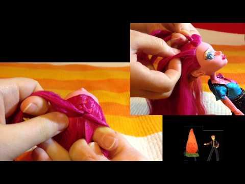 видео: ДжиДжи на Голодных играх! / Прическа для кукол Монстер Хай / Инструкция