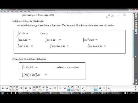 U9L5 The Fundamental Theorem of Calculus, Anti derivatives, Indefinite and Definite Integrals