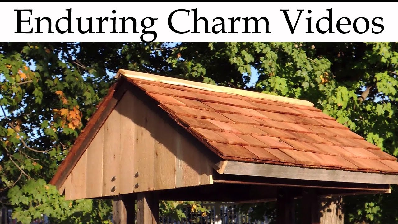 Cedar Shingle Roof For A Wellhouse YouTube – Cedar Shingle Roof Peak