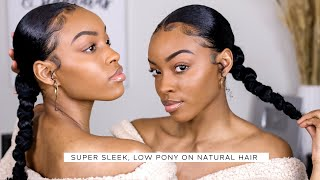 QUICK & EASY SLEEK PONYTAIL ON NATURAL HAIR   Slim Reshae