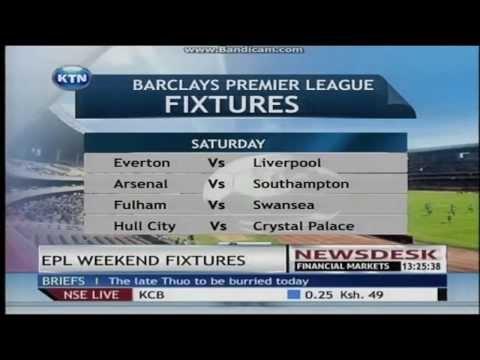 EPL Weekend fixtures