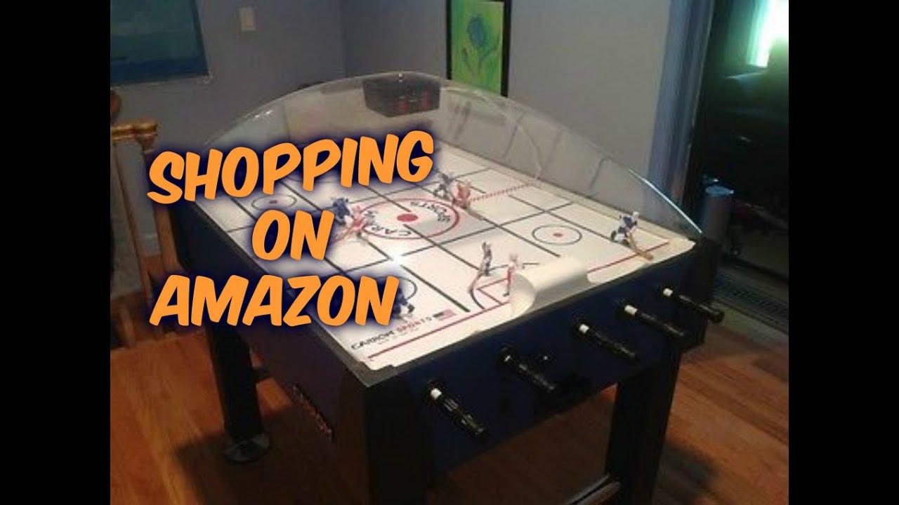 Shopping on Amazon-Carrom Super Stick Hockey Table - YouTube
