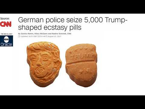 German police seize 5,000 Trump shaped ecstasy pills