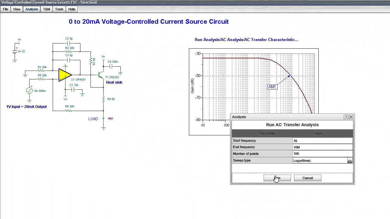 hight resolution of voltage controlled current source circuit
