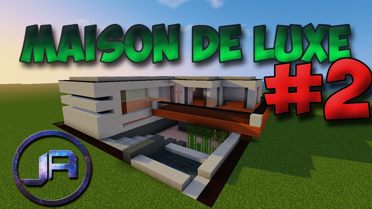 Tuto Maison De Luxe Moderne Sur Minecraft 2 Youtube