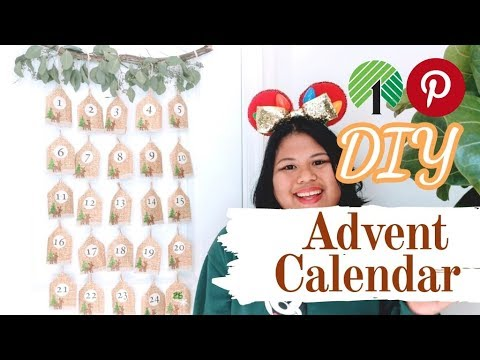 Dollar Store DIY: Pinterest Advent Calendar for under $10
