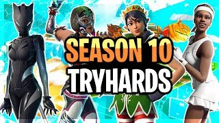 Top 10 Sweatiest Tryhard Skin Combos In Season 10 - Fortnite