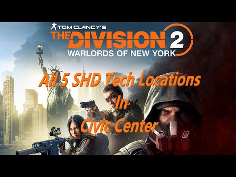 The Division 2 Warlords Of New York Expansion All 5 SHD Tech Location´S in Civic Center