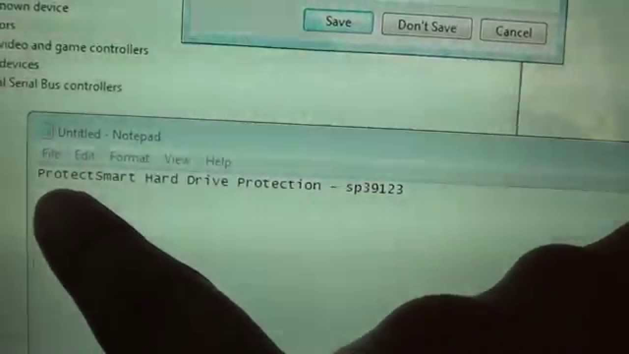 HP Laptop: Fix Drivers Error ACPI\HPQ004 (ProtectSmart Hard Drive  Protection) SP39123