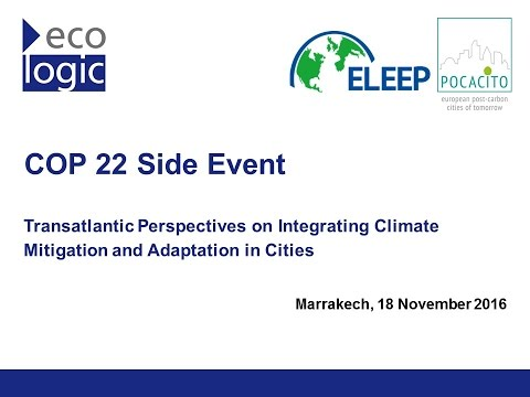 Side Event: Transatlantic Perspectives on Integrating Climate Mitigation and Adaptation in Cities