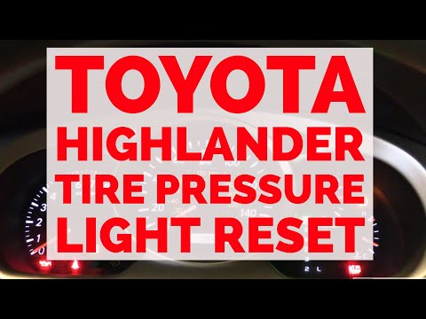 How To Reset Low Tire Pressure Switch Toyota TPMS