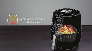 BLACK+DECKER AerOfry, 4L/1.2 KG Manual Air Fryer - AF300