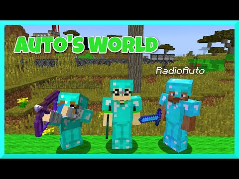 Minecraft - Team RadioJH Shows Auto World In Survival PT1 - Roller Coaster, Park And More