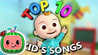 Top 10 Popular Kids Songs | +More Nursery Rhymes & Kids Songs - Cocomelon (ABCkidTV)
