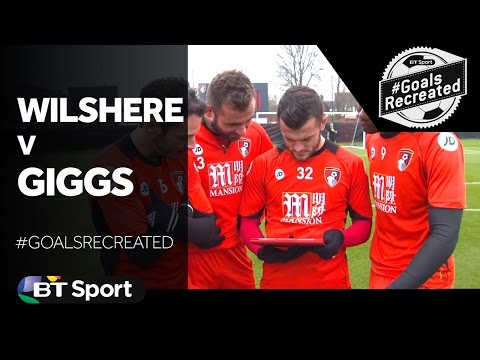 Wilshere tries a classic Giggs Volley against Fulham | #GoalsRecreated