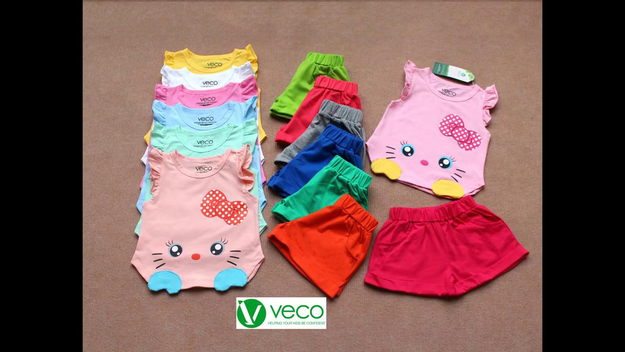 quần áo trẻ em giá sỉ chợ tân bình-  bộ sưu tập mèo Kitty cho bé gái 1 tuổi đến 15 tuổi