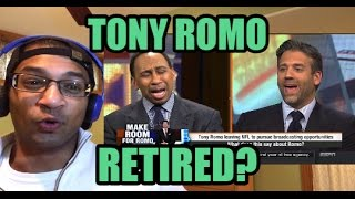 STEPHEN A RIPS TONY ROMO FOR RETIRING! First Take reaction on Dallas Cowboys news