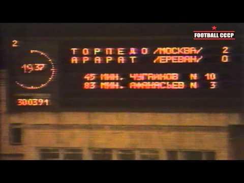 4 Тур Чемпионат СССР 1991 Торпедо Москва-Арарат Ереван 2-0