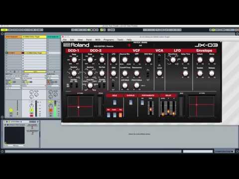 ROLAND BOUTIQUE JX-03 MIDI EDITOR / Controller /REMOTE