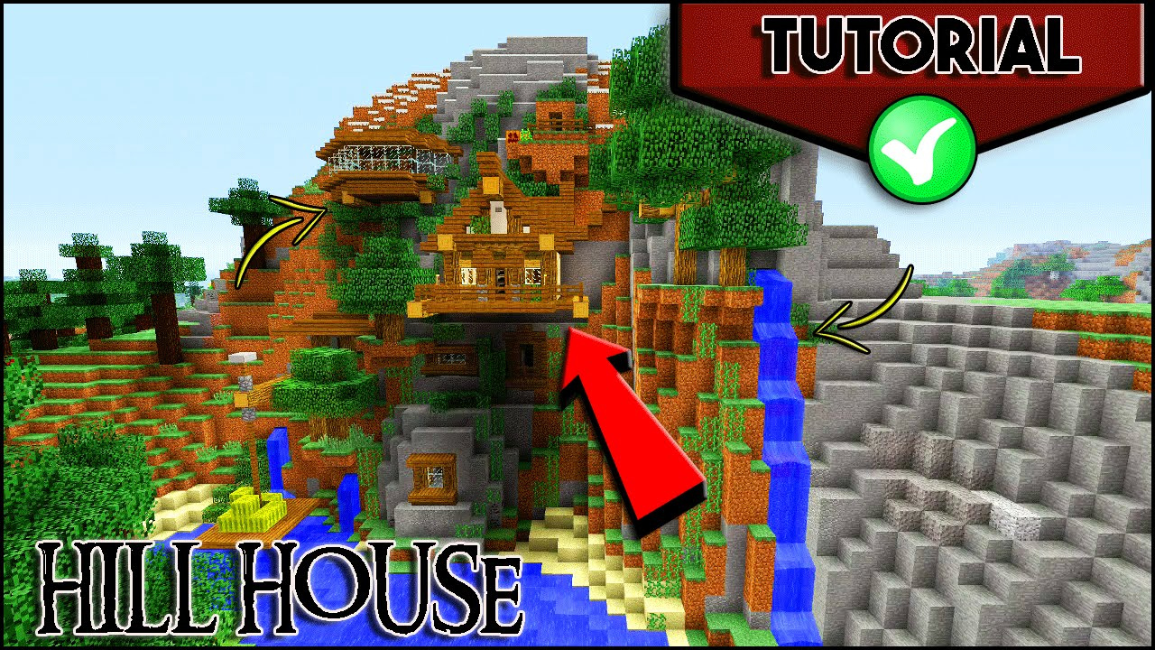Hill house minecraft how to make a cliff house tutorial for How to build a house in a mountain