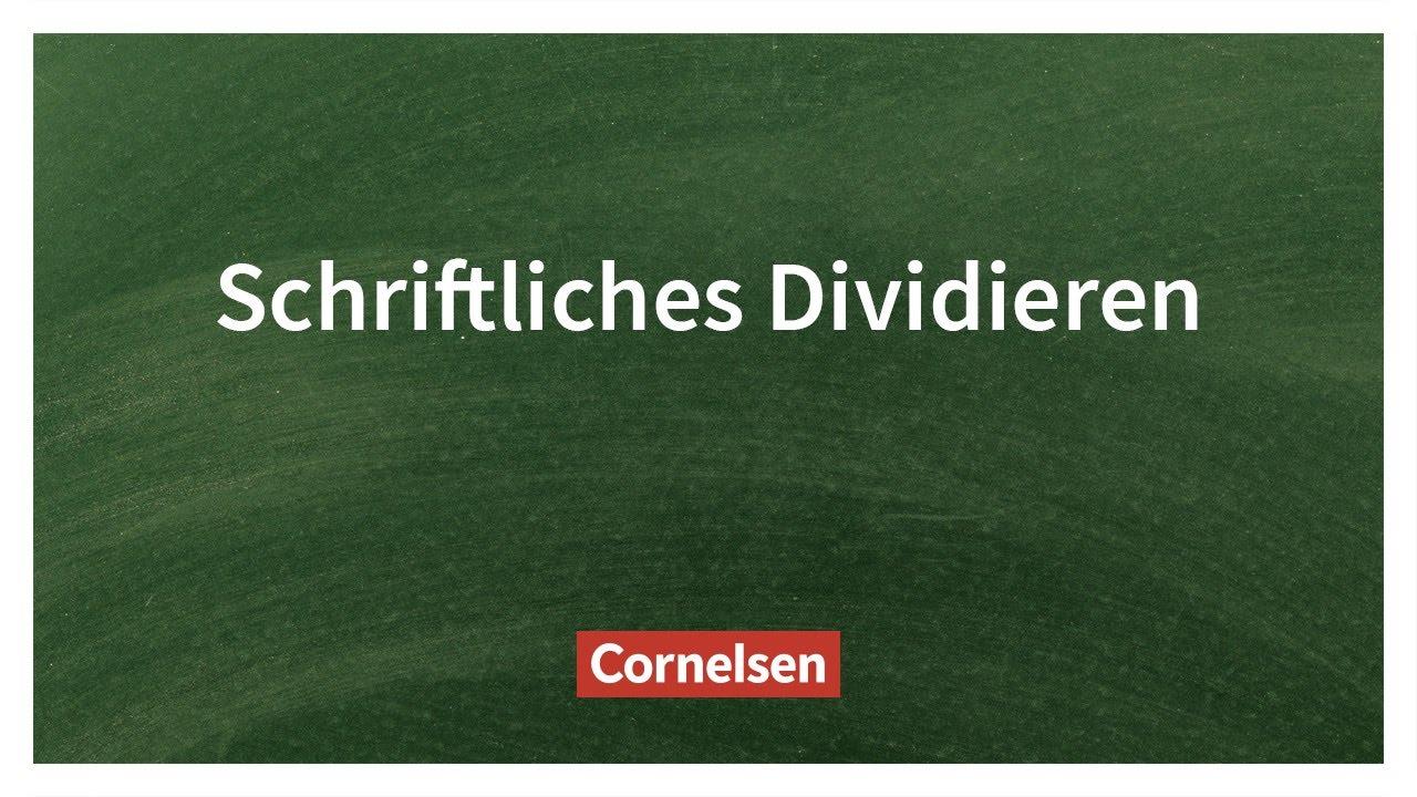 Schriftliches Dividieren – Einfach erklärt | Cornelsen Verlag ...