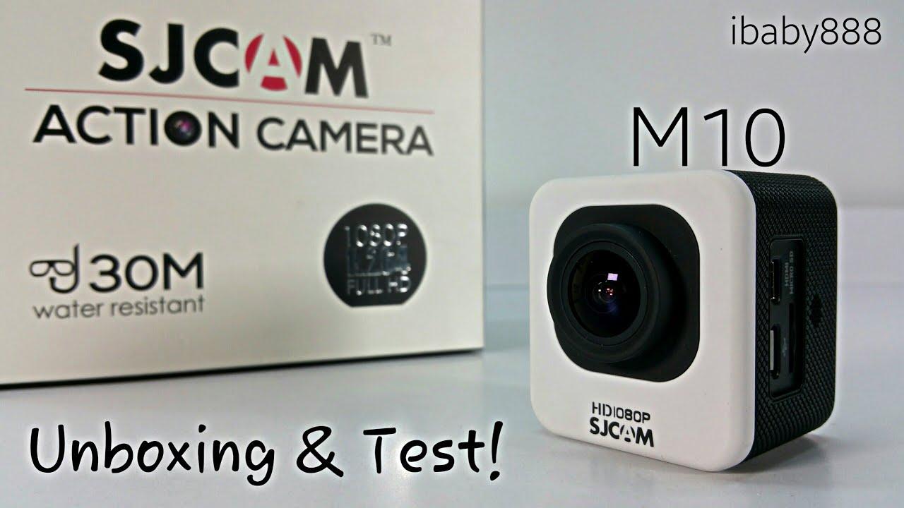 sjcam m10 1080p hd 12mp mini action camera unboxing test youtube. Black Bedroom Furniture Sets. Home Design Ideas