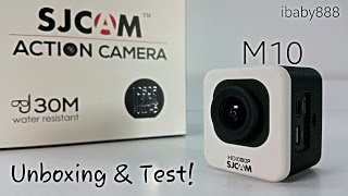 SJCAM M10 - 1080P HD 12MP Mini Action Camera - Unboxing & Test!
