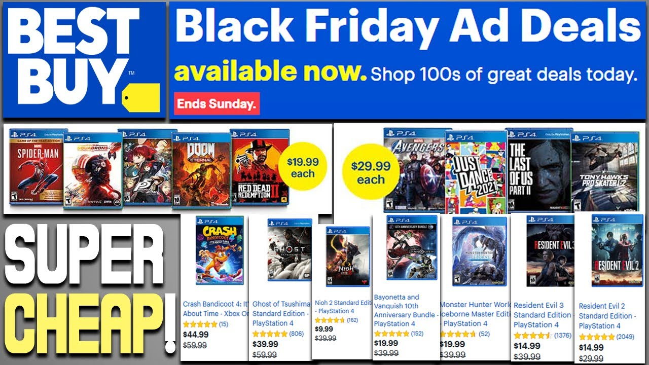 Epic Best Buy Ps4 Black Friday 2020 Deals Revealed Insane Ps4 Game Deals Super Cheap Great Games Youtube