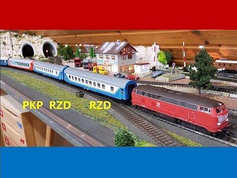 Oostzug, Moskau, Berlin, RZD, PKP, DR, CSD, DB, Märklin, Tillig, Sachsenmodelle, Acme