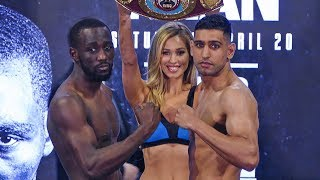 Terence Crawford vs. Amir Khan FULL WEIGH IN & FINAL FACE OFF | Top Rank Boxing