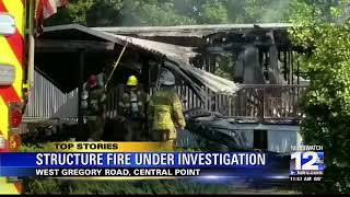 Family displaced following mobile home fire near Central Point
