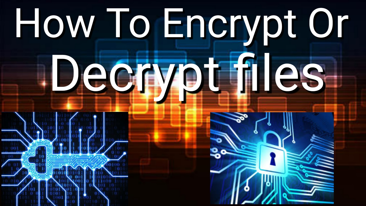 How To Encrypt & Decrypt Files On Android - YouTube