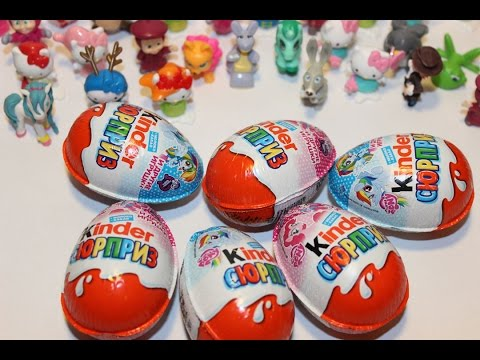 Яйца киндер сюрприз, обзор игрушек киндер, Kinder Surprise, a lot of candy