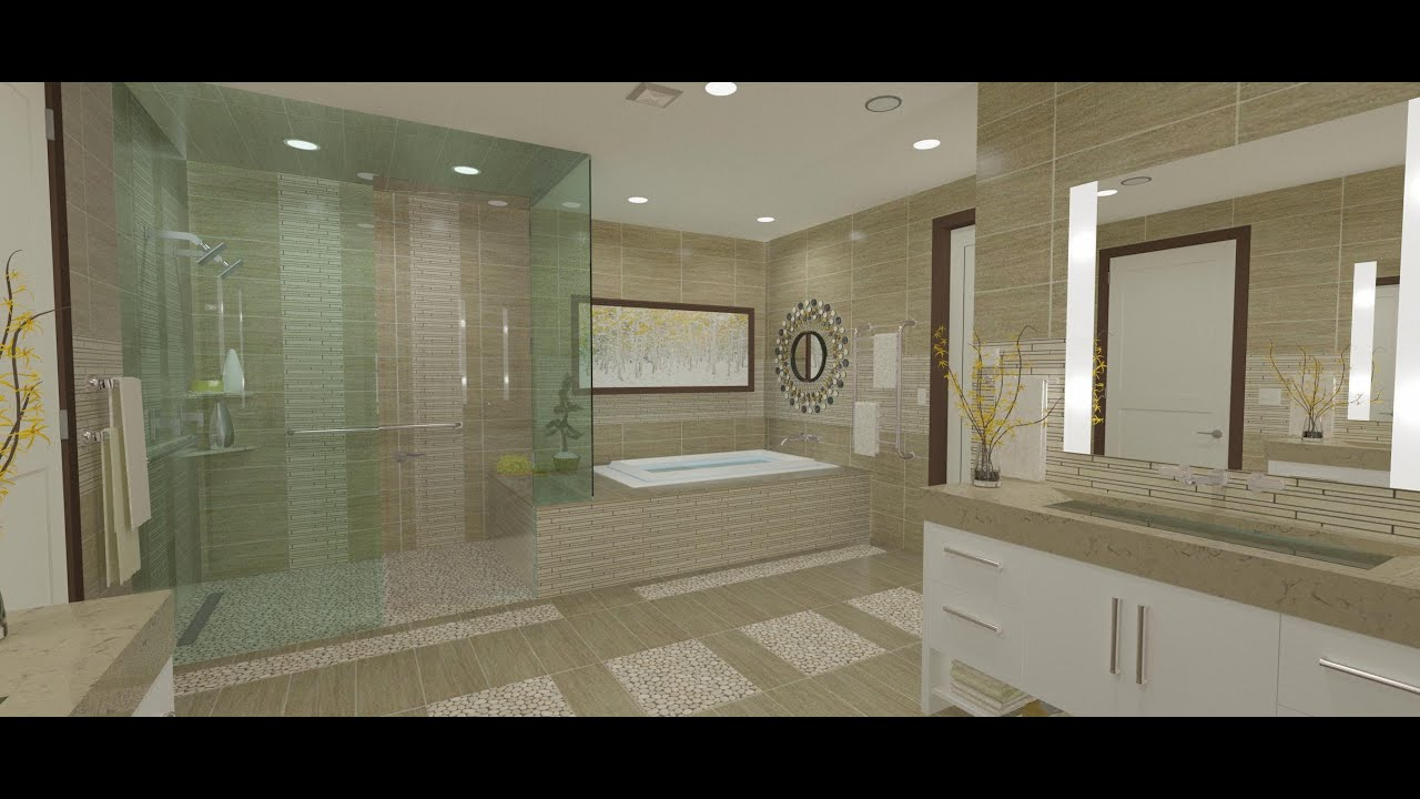 9 Master Bath Vanities Shower Tub Platform