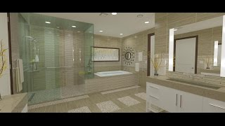 9 Master Bath, Vanities, Shower, Tub Platform, & Construction Drawings  – Breckenridge Home Design