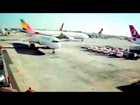 Asiana Airlines A330 hit Turkish Airlines A321's tail in Istanbul Ataturk Airport