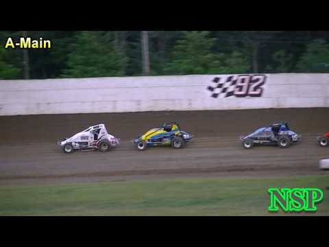 June 10, 2017 Wingless Sprint Series A-Main Grays Harbor Raceway