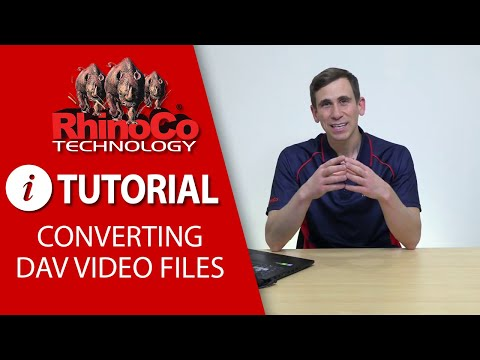 Converting DAV Video Files To Standard File Formats