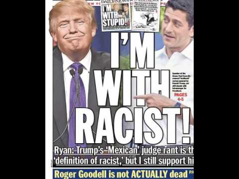 New York Daily News planned front page had Paul Ryan saying 'I'm with racist'