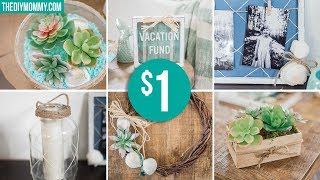 DOLLAR TREE SUMMER DIY DECOR ☀ Wreath, Succulent Arrangement, Coastal Frame & More!