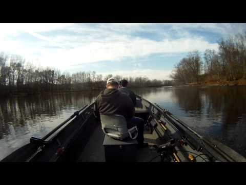 Steelhead Fishing From My Uncle's Fish Rite Jet Boat On Grand River