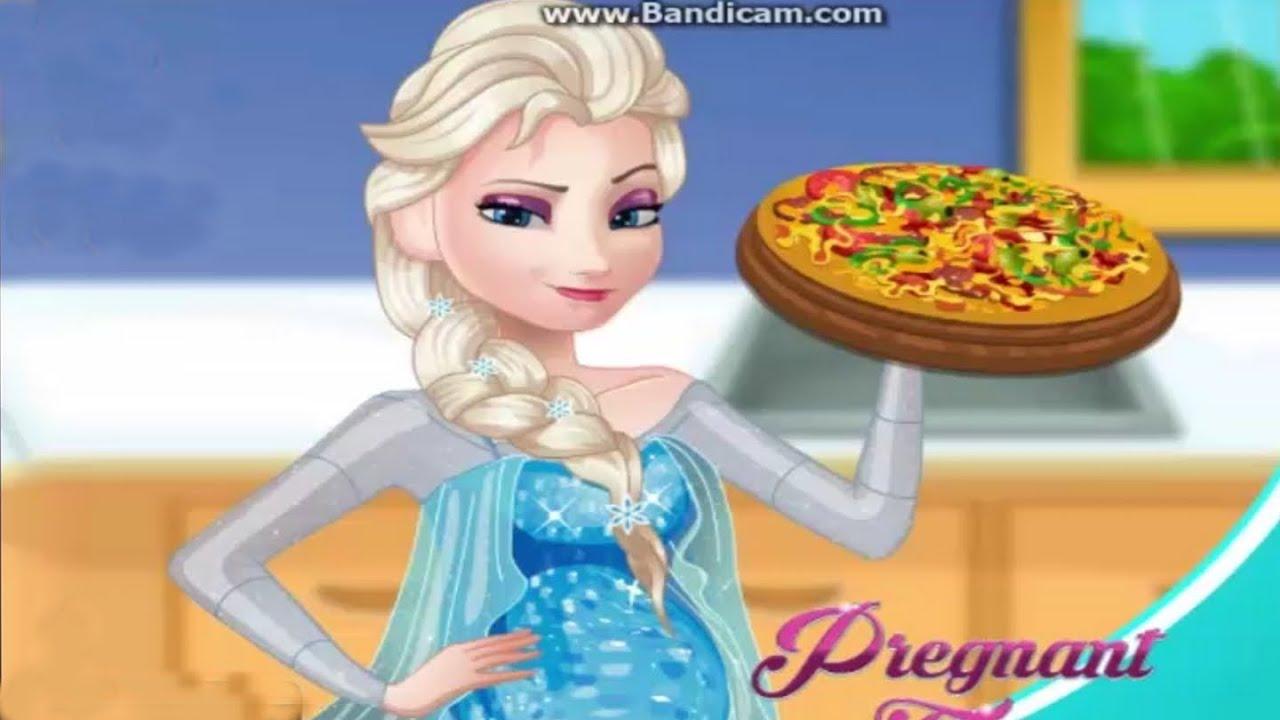 Juegos De Frozen Princesas Elsa Embarazada Cocina Pizza ᴴᴰ